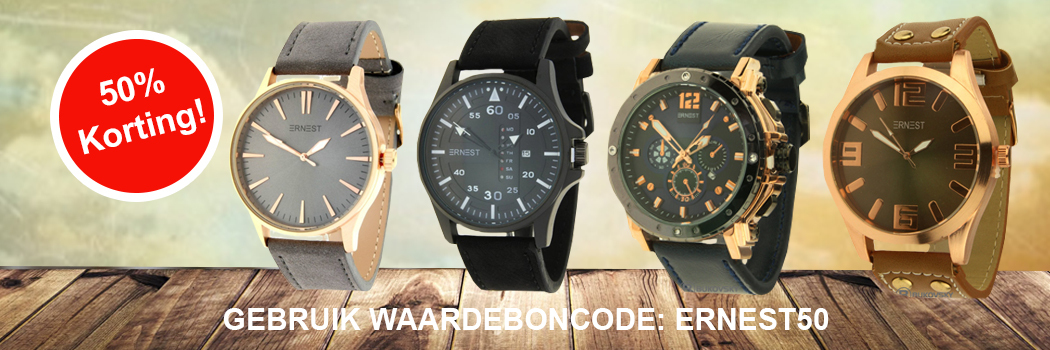 e1bb9de7250 Stalen Armbanden, Halskettingen en Ringen. Trendy Ernest Horloges
