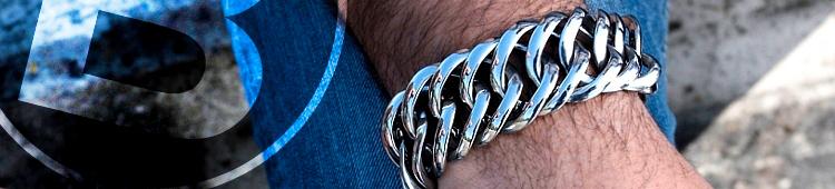 Stalen Bukovsky armband Prestige XL. Met 2 jaar Garantie tegen verkleuren.